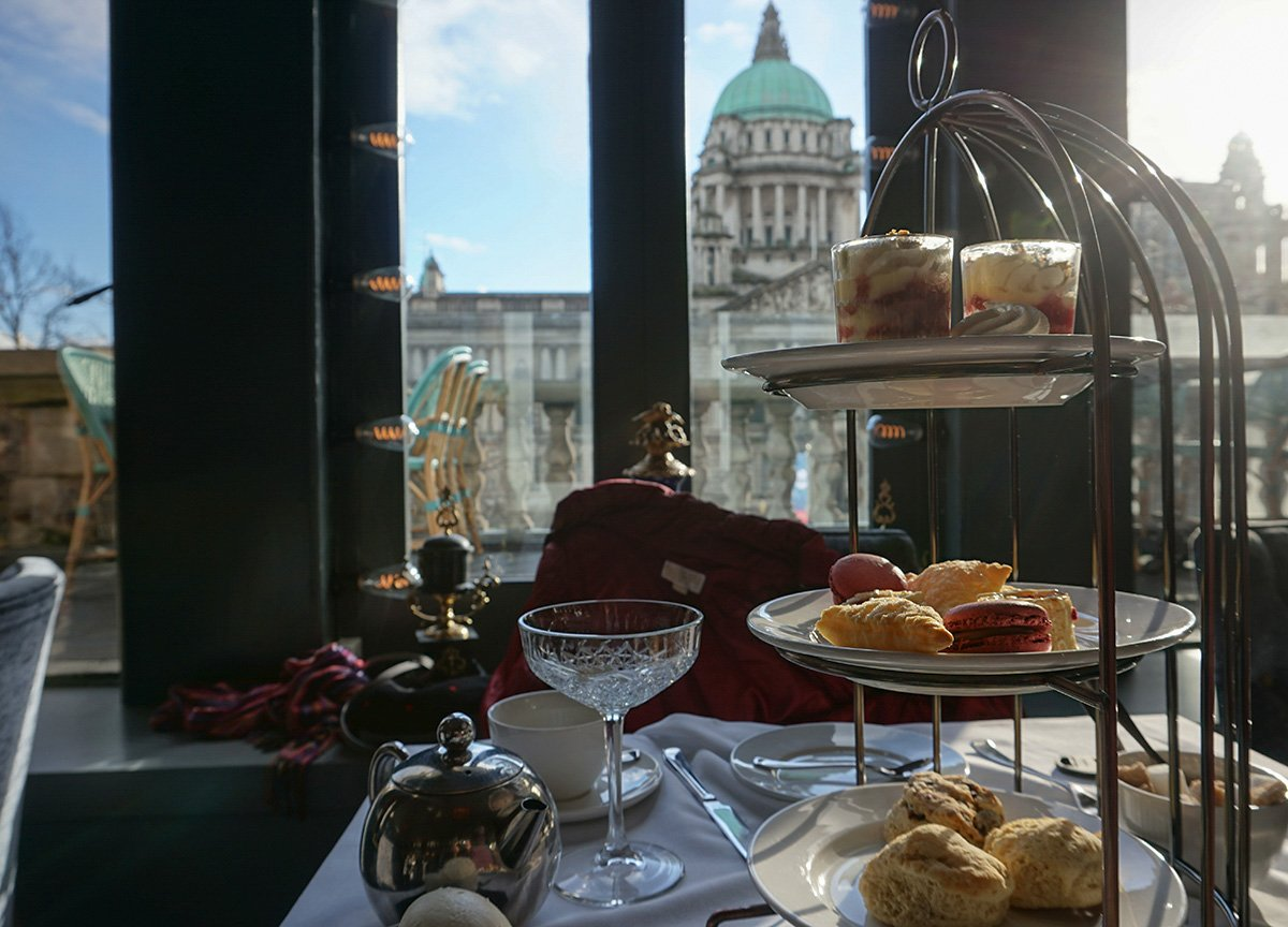 High Tea at Café Parisien in Belfast City Hall Northern Ireland
