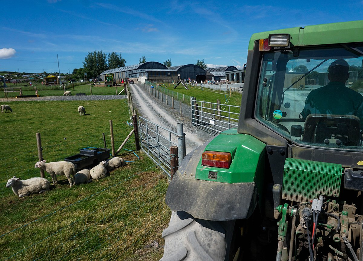 Tractor Rides at Streamvale Open Farm Belfast Northern Ireland