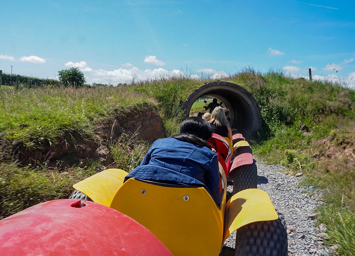 Tunnel of Barrel Ride at Streamvale Open Farm Dundonald
