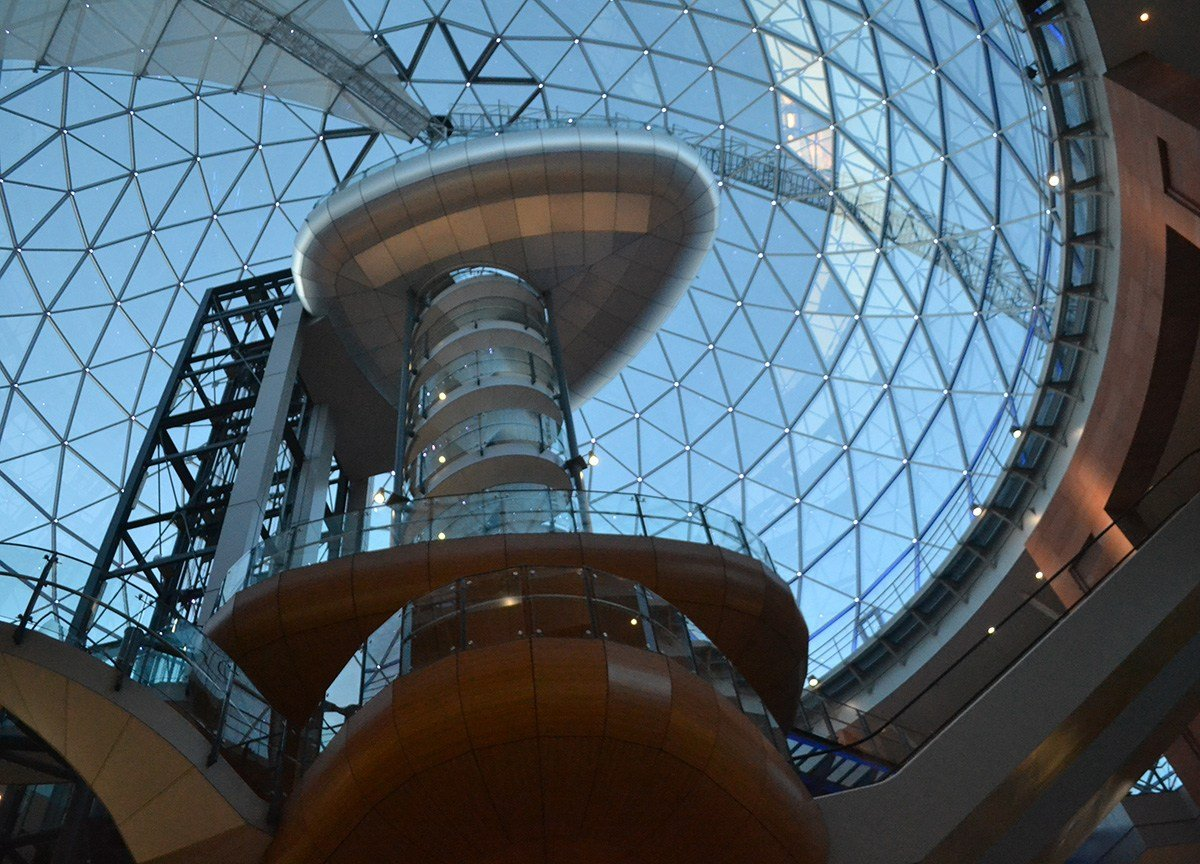 Victoria Square Dome. Viewpoint with 360° views of Belfast