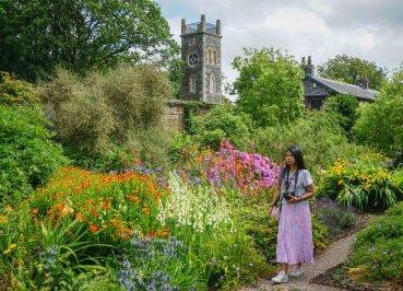 Flowers in Walled Garden at Rowallane Gardens in Ballynahinch Northern Ireland