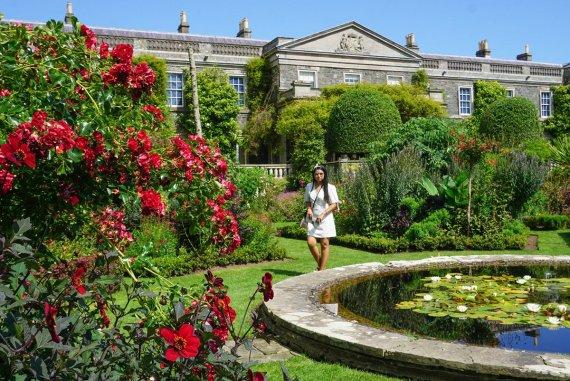 Formal Gardens at Mount Stewart Estate in Summer in Northern Ireland