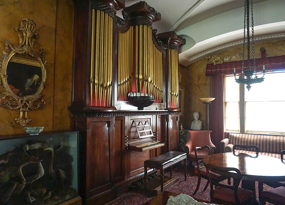 Organ Upstairs on House Tour at the Argory National Trust Armagh NI