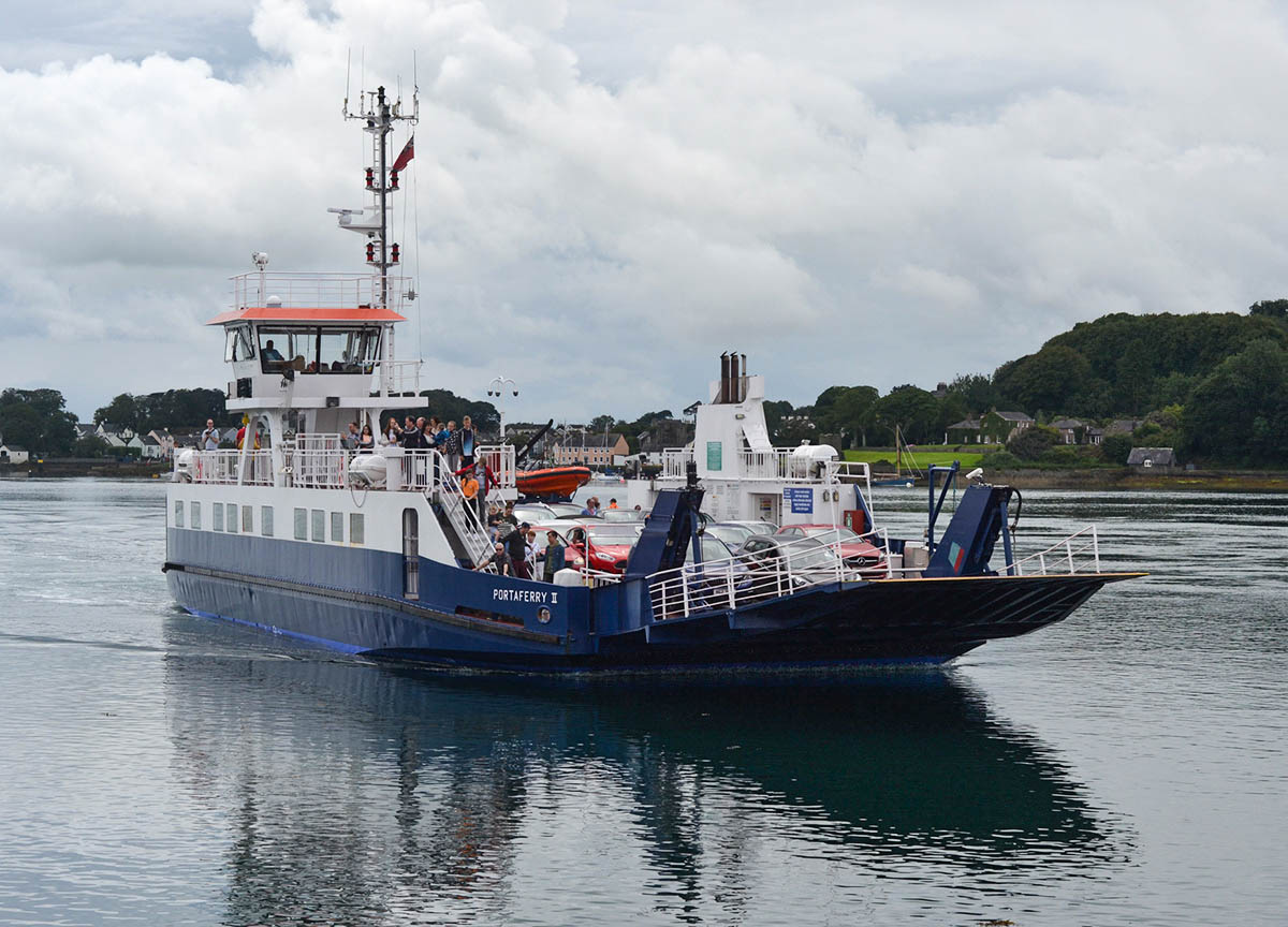 Strangford Ferry Crossing Strangford Lough in County Down