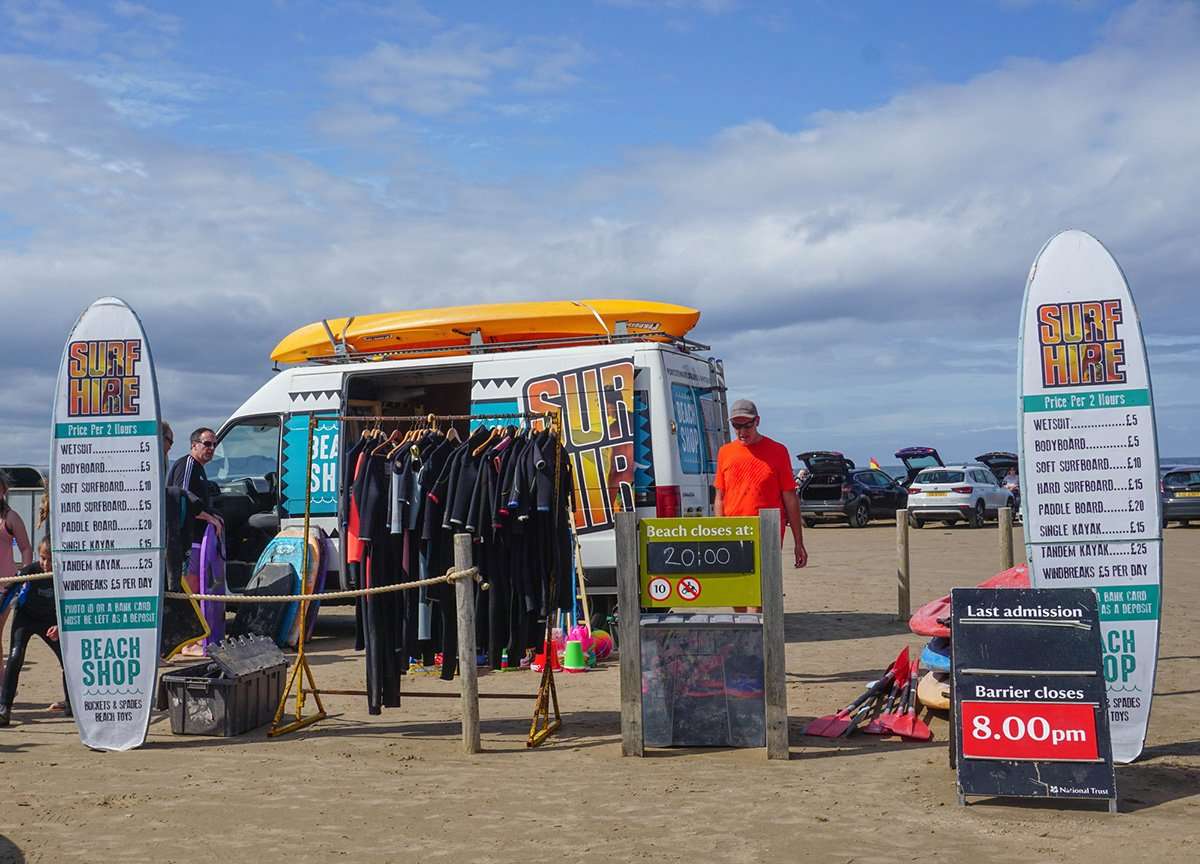 Surfing at Portstewart Strand Surf Board Rentals for Visitors