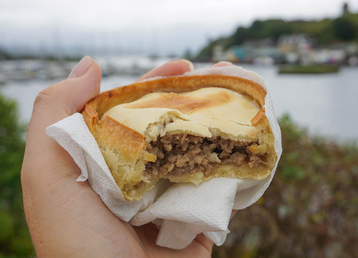 Bells Scotch Pork Pie in Scotland. Traditional Scottish Food