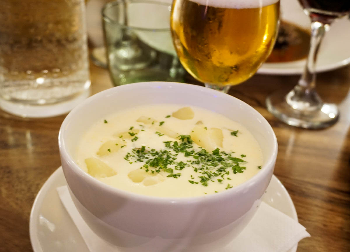 Cullen Skink Fish Soup at Starfish Restaurant Tarbert. Traditional Scottish Food