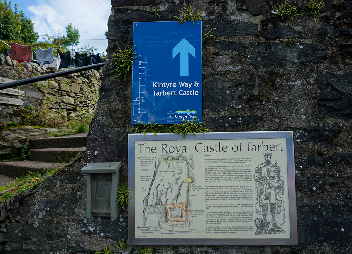 Directions and Path Walk to Tarbert Castle in Scotland
