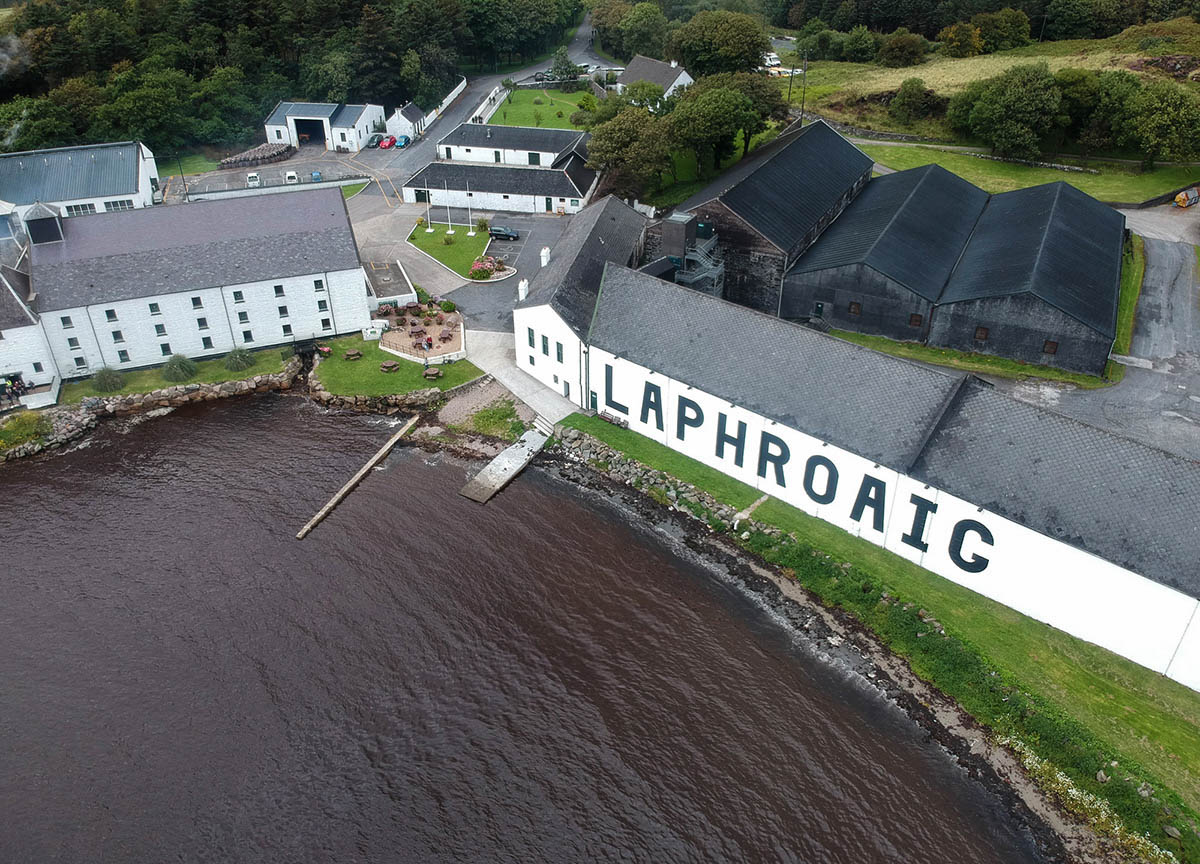 Laphroaig-Distillery-Views-from-Drone-in-Islay-Scotland