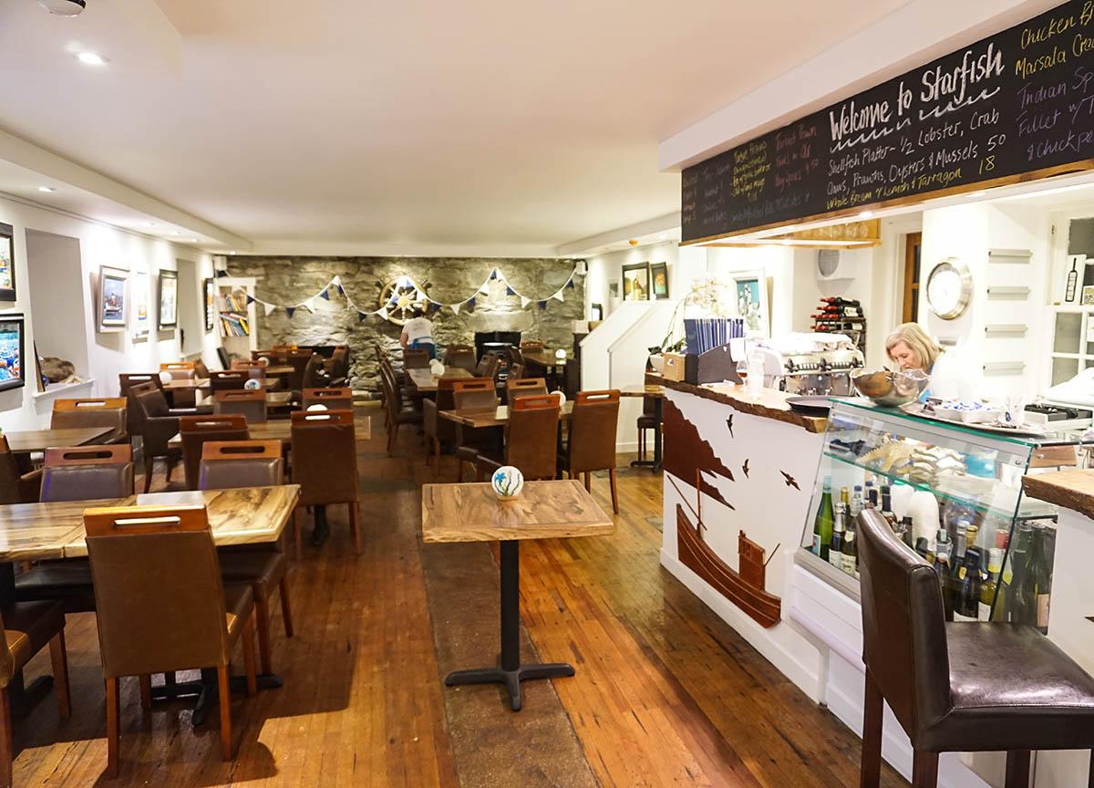 Starfish Tarbert Restaurant & Gallery Seafood in Loch Fyne Scotland
