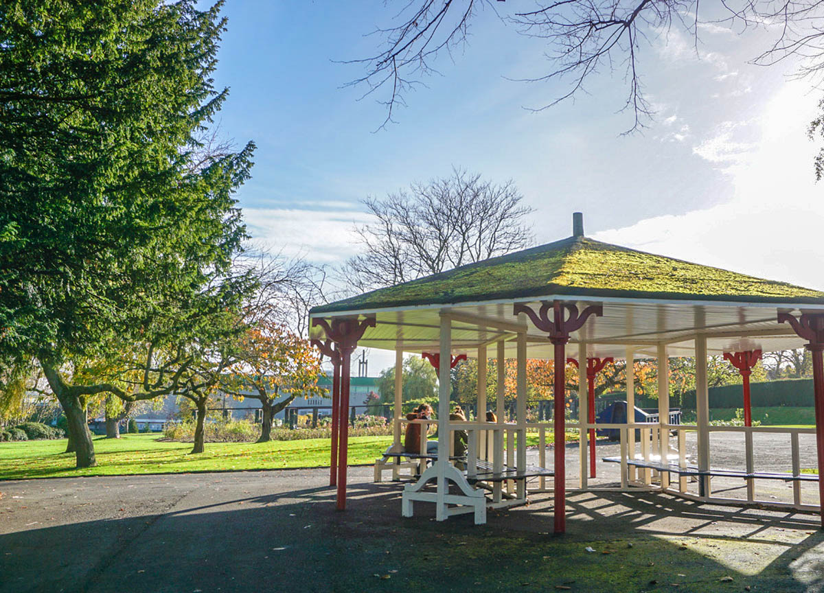 Band stand at Botanic Gardens in Belfast Northern Ireland