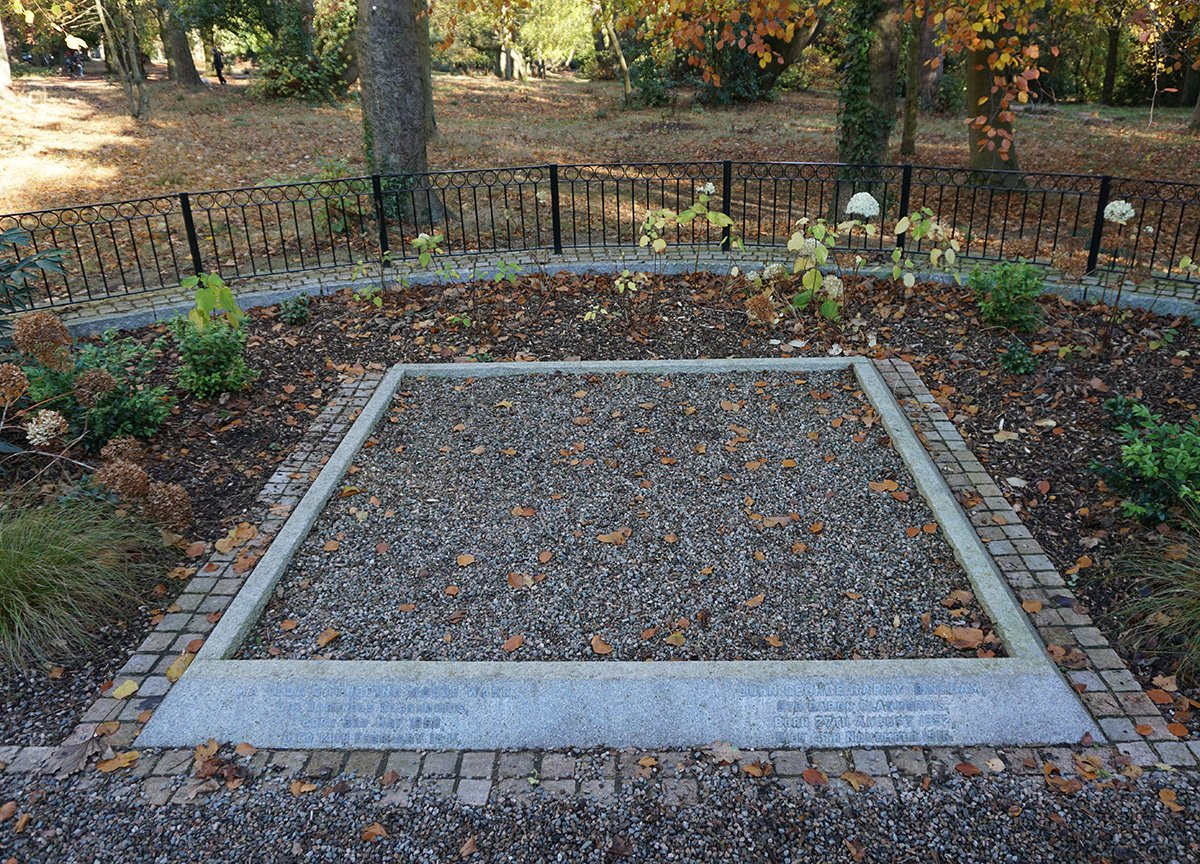 Grave in Bangor Castle Park in Northern Ireland
