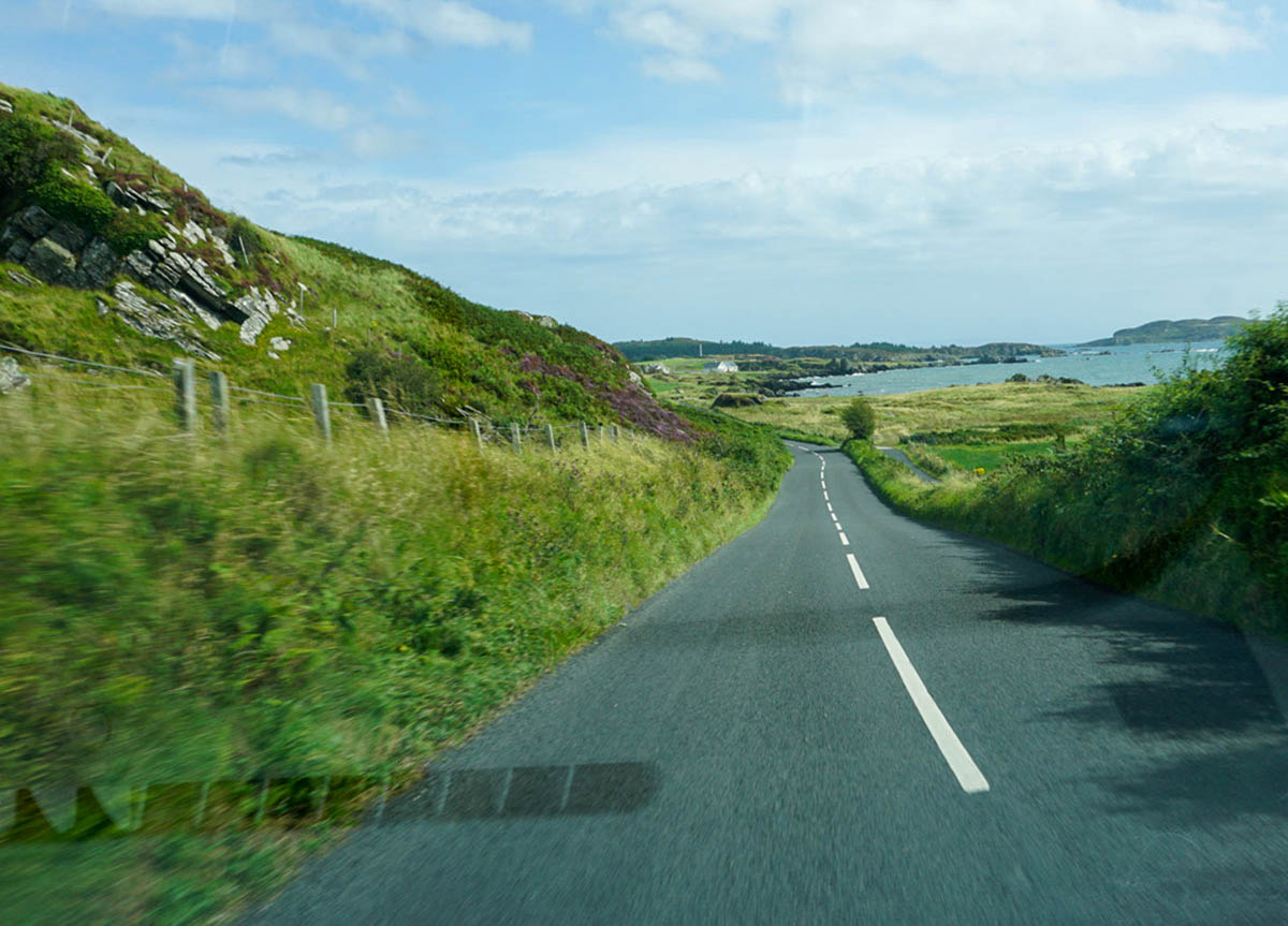 Roads on Islay and Driving on a Road Trip on Islay Island Scotland