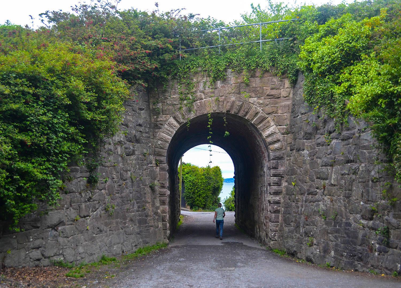 Ker Wood Tunnel Train Bridge at Carnalea in Bangor Northern Ireland
