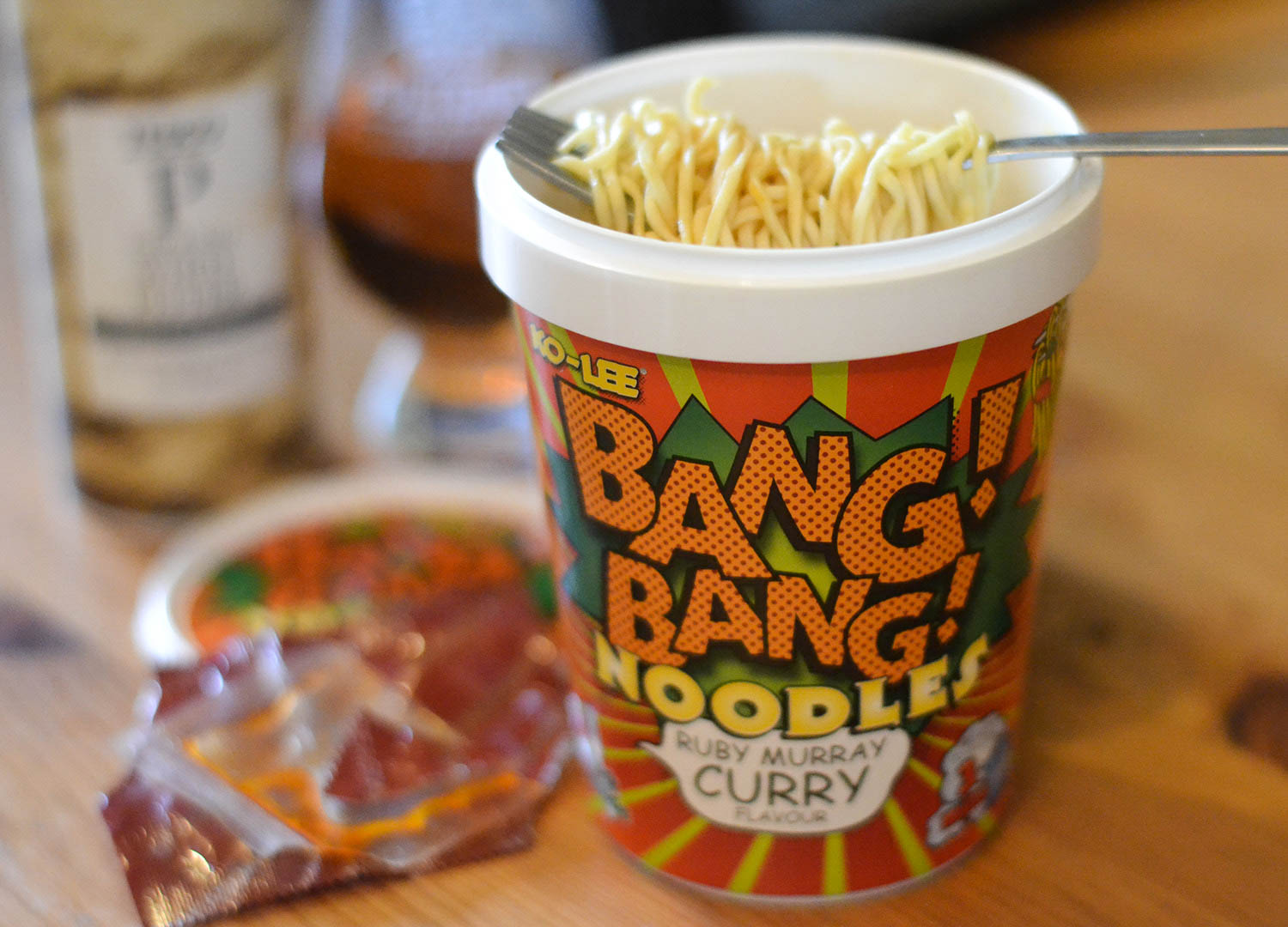 Ko-Lee Ruby Murray Curry Pot Noodle Instant Noodles in UK Supermarkets