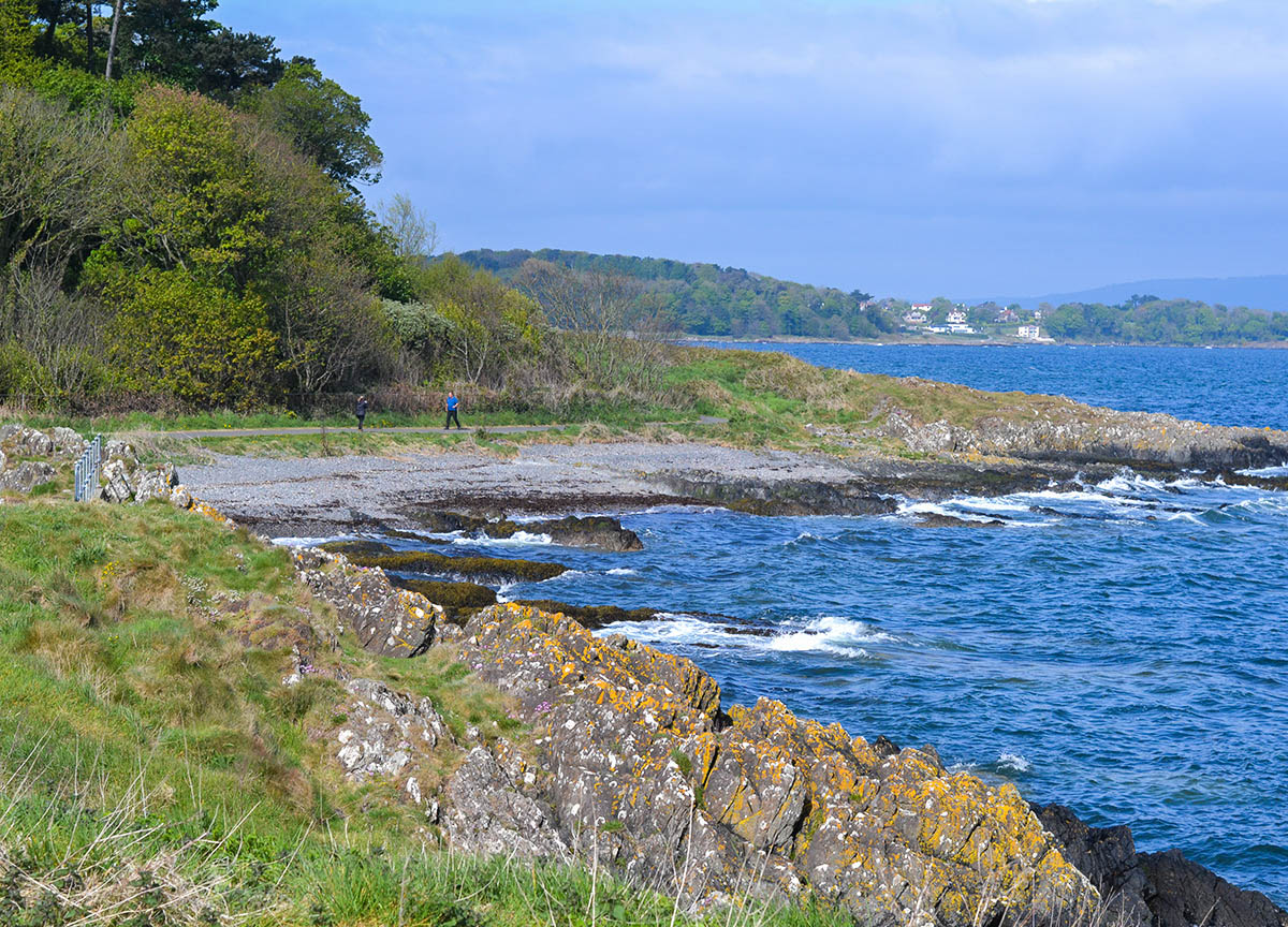 Walk from Carnalea to Crawfordsburn Coastal Path. Stricklands Glen to Kerr Wood Loop