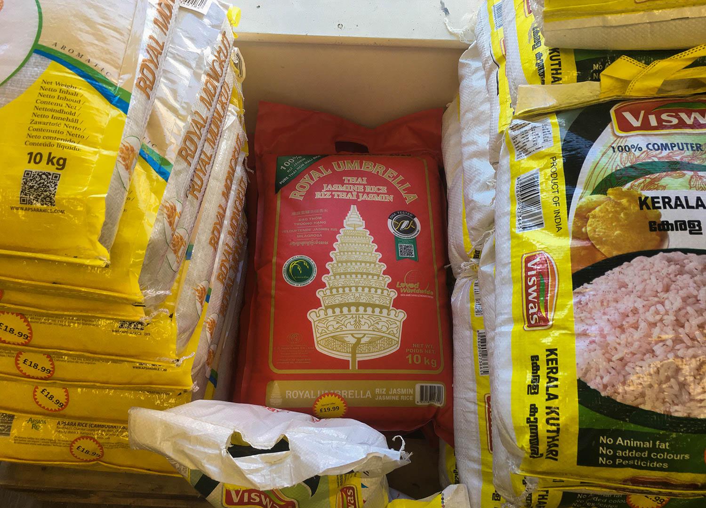 Thai Jasmine Rice in Bulk at Asia Supermarket in Bangor Northern Ireland