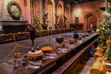 Hogwarts-Great-Hall at Christmas, Hogwarts in the Snow