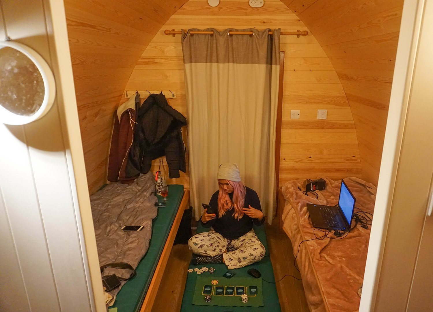 Inside Family Pods at Castle Ward Glamping Pods in Down NI