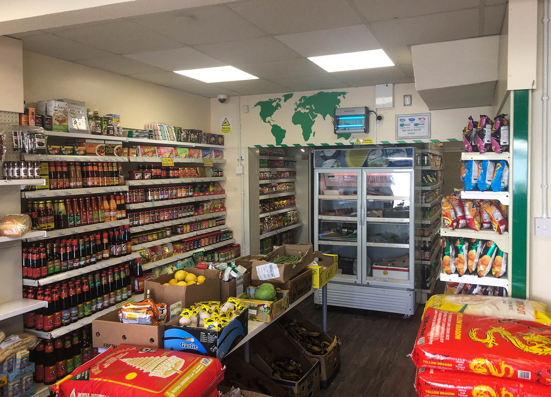 Interior Shop at World Foods Asia Supermarket in Bangor Northern Ireland