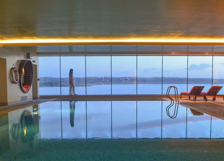 Pool Views at Cliff House Hotel in Ardmore Co, Waterford Ireland