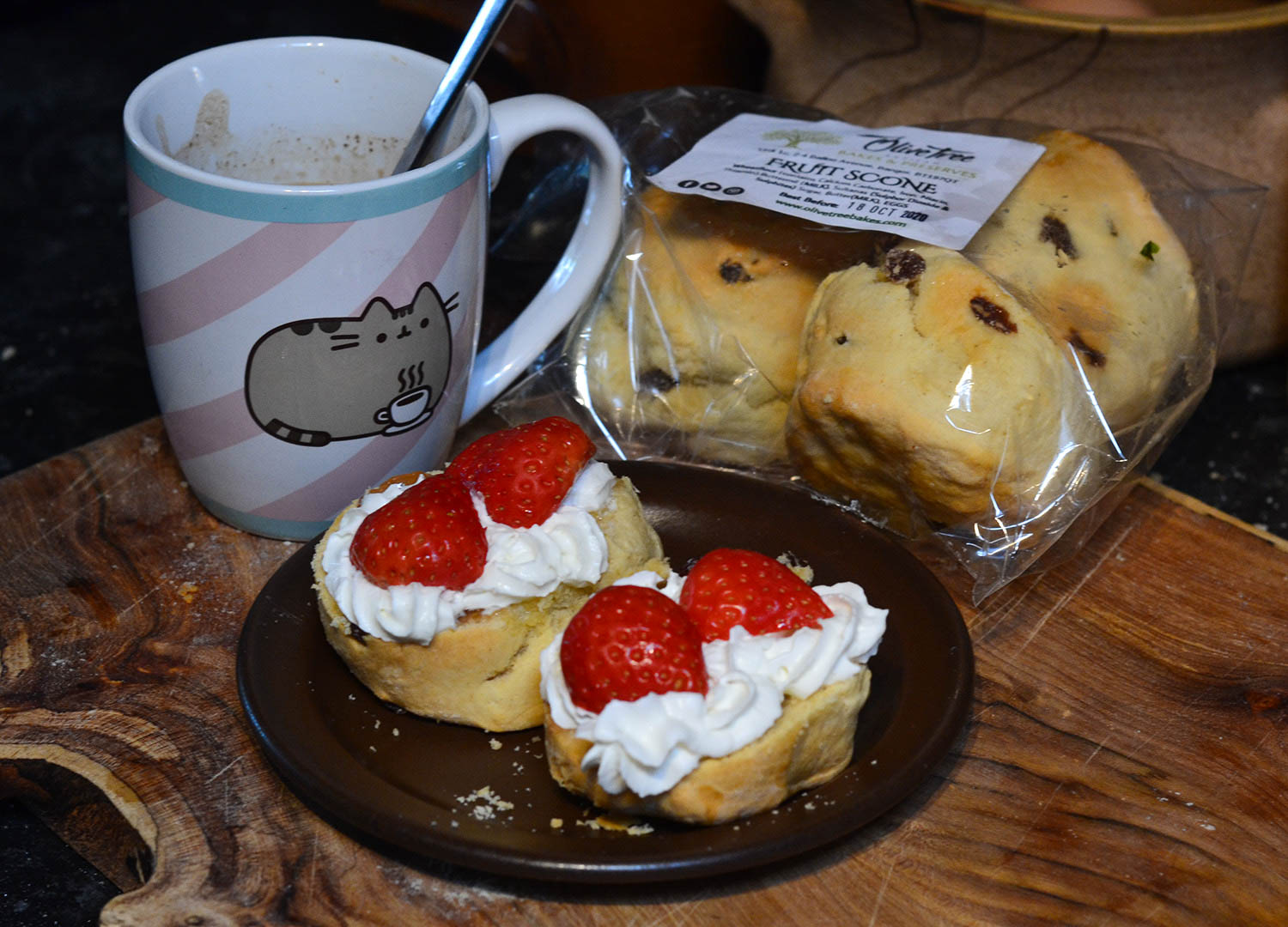 Local Scones with Strawberrys and Cream