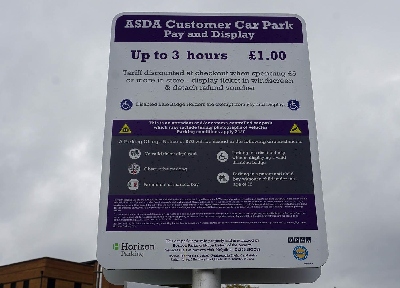 Pay Parking at Asda Car Park in Bangor Northern Ireland (2)
