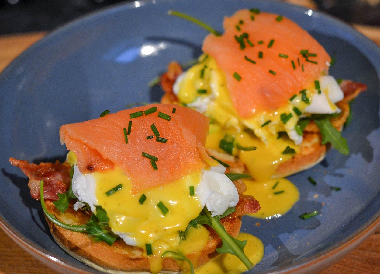 Eggs Royale: Eggs Benedict with Scottish Smoked Salmon