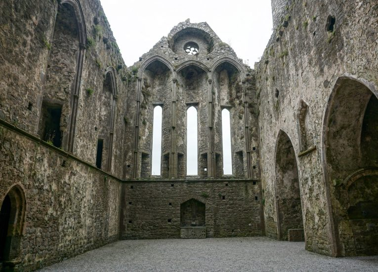 Inside Rock of Cashel Cathedral Ireland's Ancient East Road Trip Itinerary