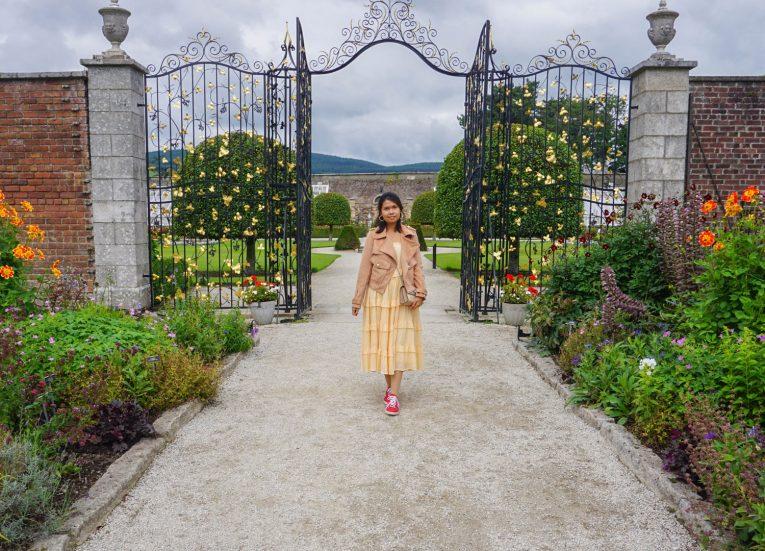 Walled Garden at Powerscourt Gardens on Road Trip of Ancient East in Ireland