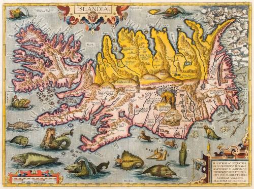 Abraham Ortelius map of Iceland