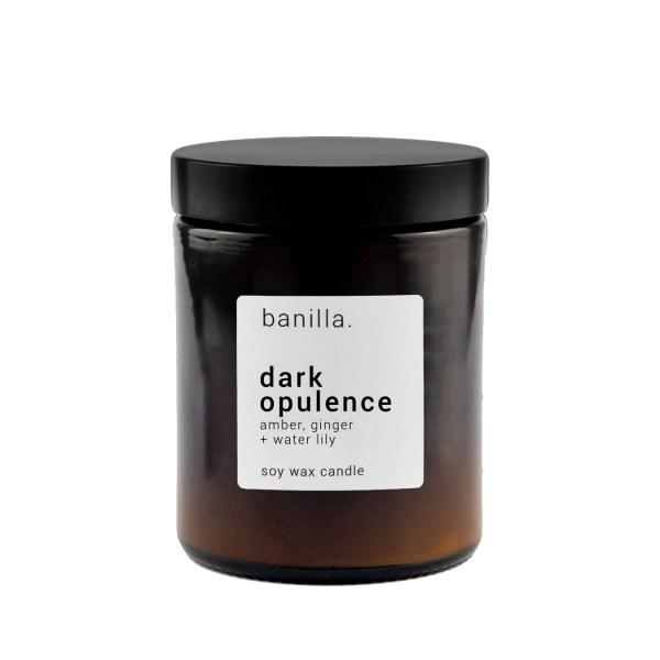 Dark Op Amber candle