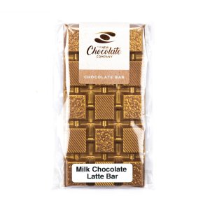 The New Chocolate Company Latte chocolate with bronze dusting