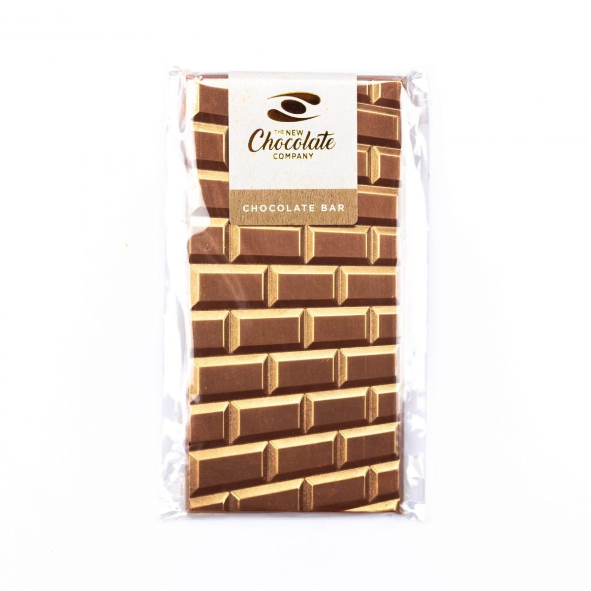 Chocolate bar moulded to look like wall bricks dusted in gold