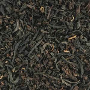 Loose leaf breakfast tea close up