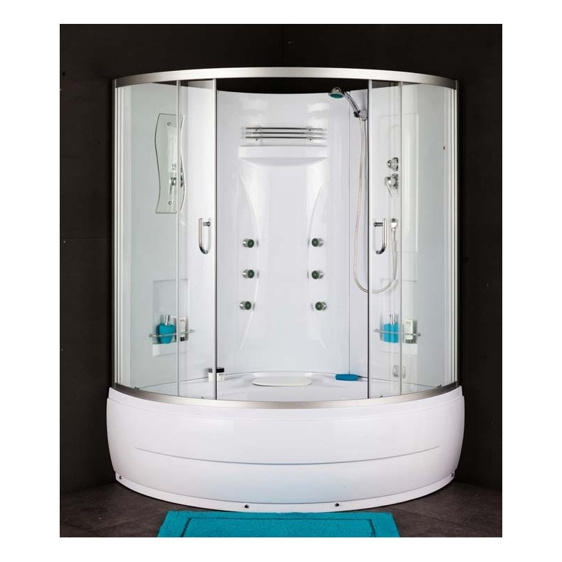 combine douche baignoire alonto de coin de 135x135 cm