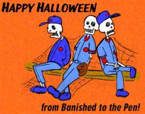 Banished to the Pen Halloween greeting