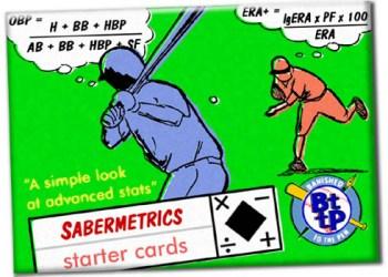 Sabermetrics Starter Baseball Cards wrapper art