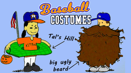 baseball halloween costume - Tal's Hill & beard