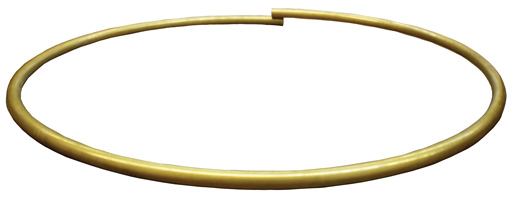 A plain rolled brass banjo tone ring
