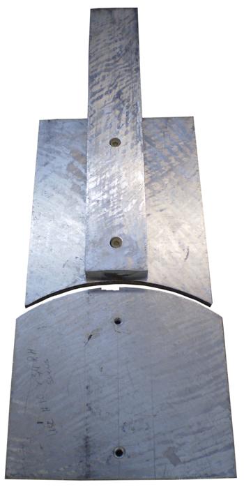 The neck heel radius jig.