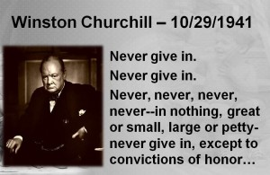 Image result for winston churchill never give up