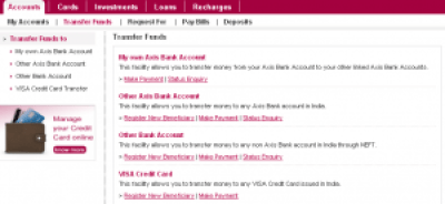 axis bank net banking