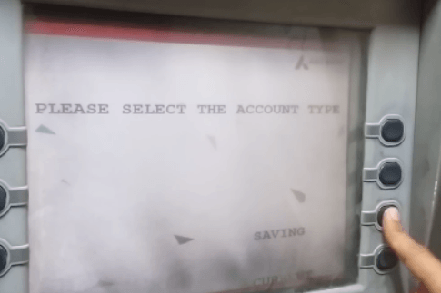 select account type axis bank atm