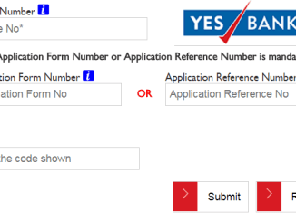 yes bank credit card status online
