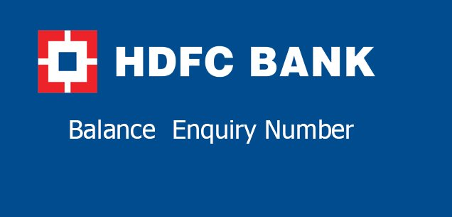 Hdfc bank balance check number