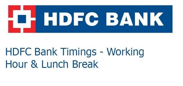HDFC Bank timings