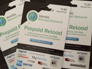 CVS Vanilla Reload Cards