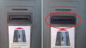ATM Card Skimmer Scam Device