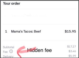 Postmates App is misleading customers with a hidden fee (3 fees total)